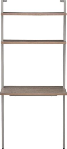 helix taupe desk  | CB2  I like this but its more expensive than the crate and barrel one that we like