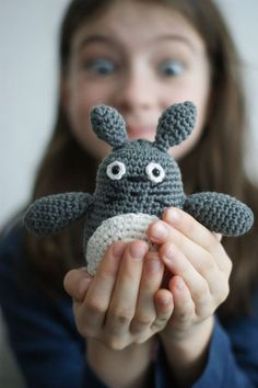 Grey totoro made by On va voir si.....  Pattern here http://www.ravelry.com/patterns/library/grey-totoro-amigurumi#