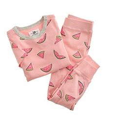 J.crew Girls' pajama set in watermelons