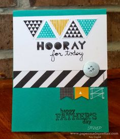 Is your dad hip to be square, or TRIANGLE?  Happy Father's Day card from Stampin' Up's Geometrical stamp set by papermadeprettier (Kay Cogbill)