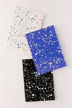 Slide View: 1: Amaretti Designs Paint Splatter Mini Notebook