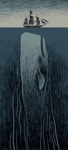 "fantagraphics: ""Moby Dick illustration by Max."" Novel by Herman Melville"