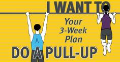 A 3 week workout plan to be able to do pull-ups!  Regardless of whether that's your goal or not, the workouts are great for upper body strength!