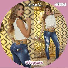 Agrega a tu #outfit estos #jeans super cool! #SoySexInx www.modacolombiana.mx Gran Plaza y Plaza Exhimoda Whatsapp 3334077725 y 3312676885