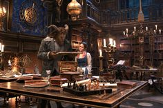 Bookworms from Beauty and the Beast Movie Stills  Beast reveals his astounding library to Belle.