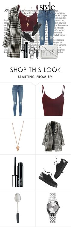"""""""Loove 🚨😍✨"""" by i-smell-grunge ❤ liked on Polyvore featuring Balmain, Frame, Glamorous, Pamela Love, Clinique, adidas NEO, Mercedes-Benz, Nixon and The Cambridge Satchel Company"""