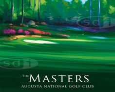 NEW! Masters Golf Course art sports poster-print