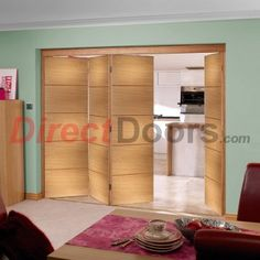 As usual....Free delivery is offered on this Nuvu Santandor prefinished oak folding door set.  #foldingdoorset