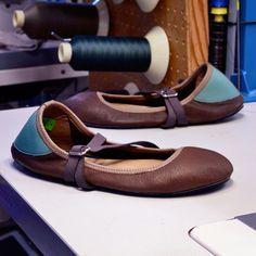 ba0700c18fea Custom Shoe of the Week  Ballerine Flats in Vegetable-Tanned Cocoa with  Pacific Heel