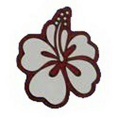 Geocaching / Geocoin lapel pin: Mauison - Hawaii Hibiscus, white