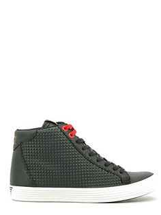 Emporio Armani EA7 Ledersneaker High Herrenschuhe Lederschuhe prisma Schwarz EU 42 278065 6A299 00020