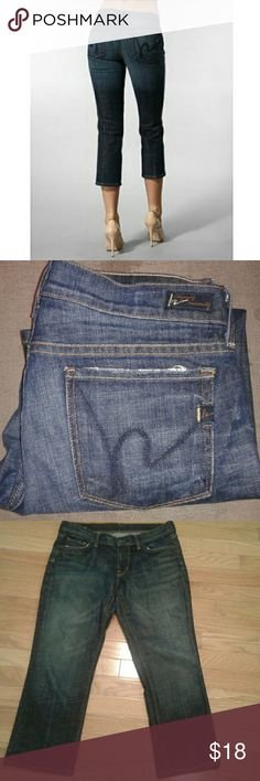 """Citizens of Humanity Cropped Jeans Low waust, cropped  jeans, Kelly #063, dark rinse.  Some wear on the pockets as seen in pictures.  Inseam approx 23"""", rise approx 8"""". Citizens Of Humanity Jeans Ankle & Cropped"""