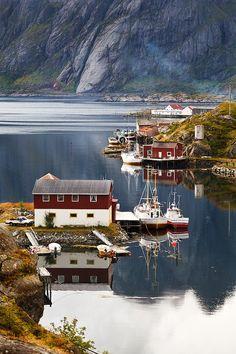 Sund, Lofoten Islands, Norway- I Scandinavia Places Around The World, Travel Around The World, Around The Worlds, Lofoten, Dream Vacations, Vacation Spots, Vacation Travel, Places To Travel, Places To See