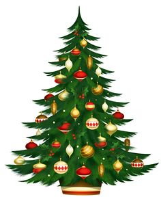 Christmas Poted Tree PNG Clipart