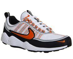 Nike, Nike Zoom Spiridon Trainers, White Team Orange Black