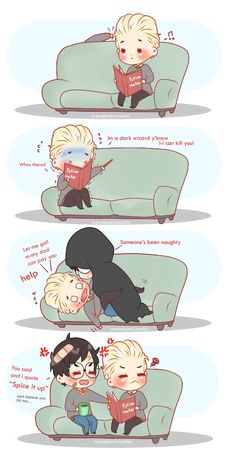 Chibi Drarry[ Spice it up 1] by Cremebunny