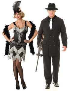 Flapper and Gangster costumes