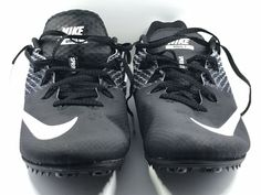 size 40 568f5 aaead NIKE Zoom Rival S 9 Track Field Running Shoes Sprint Spikes Black White US  13