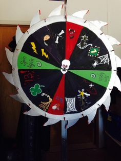 "Tempt your fate--spin the ""Wheel of Misfortune"" game idea on Halloween Forum"