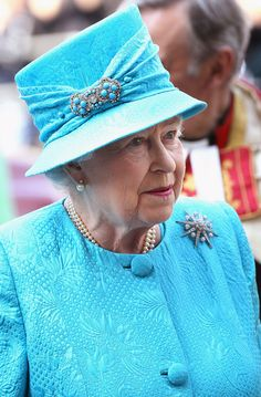 Queen Elizabeth at the Royal Maundy service in Westminster Abbey in April 2011