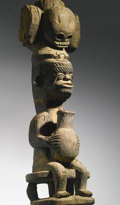 Igbo Ikenga Madu ('Titleholder' Right Hand Altar Figure), Nigeria http://www.imodara.com/post/94929389704/nigeria-igbo-ikenga-right-hand-altar-figure
