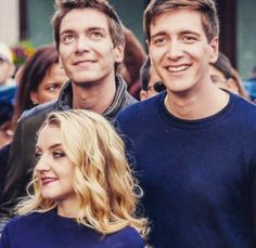 The Phelps twins and Evanna Lynch at Universal Orlando (credit Diana Kelly) Harry James Potter, Harry Potter Pictures, Harry Potter Fandom, Harry Potter Characters, Harry Potter World, 3 Characters, Golden Trio, Oliver Phelps, Phelps Twins