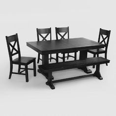 One of my favorite discoveries at WorldMarket.com: Antique Black Verona Dining Collection