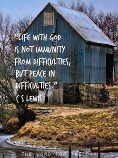 """CS Lewis: """"Life with God is not immunity from difficulties, but peace in difficulties."""" """"The world does not need more Christian literature. What it needs is more Christians, writing good literature. Quotable Quotes, Faith Quotes, Bible Quotes, Quote Life, Bible Verses, Quotes About The Bible, Quotes About Peace, Trusting God Quotes, Farm Life Quotes"""