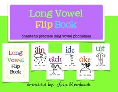 Help your primary students recognize long vowel phonemes and practice their sounds with this long vowel flip book !