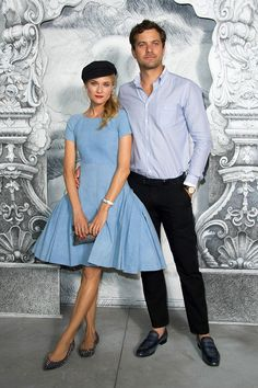 Diane Kruger & Joshua Jackson at Chanel Haute Couture