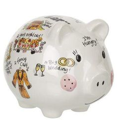 Wow deze is ook zo mooi :) Blond Amsterdam, Girly, Fancy, Instant Money, Piggy Banks, Money Box, Illustrations, Nails, Porcelain Ceramics