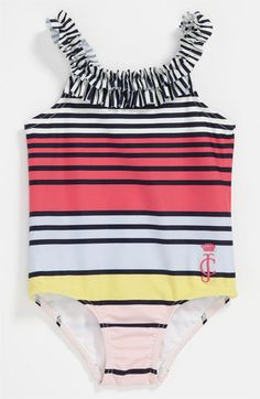 Juicy Couture Stripe Swimsuit (Infant) available at Nordstrom