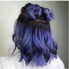 Lavender Hair Colors, Hair Color Purple, Green Hair, Black Hair, Hair Colour Design, Medium Hair Styles, Long Hair Styles, Hair Medium, Crazy Hair