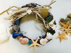 Spiaggia amore Seaside corona Wall Decor Seashell di FingerMagic
