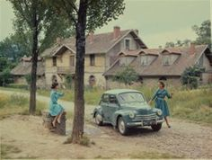 To celebrate the new Twingo model, Renault's website has a presentation on the history of their small cars | 1961 - Renault 4 CV Sport