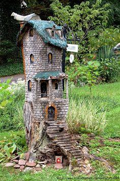 (P) ♧ Charming Fairy Cottages ♧ garden faerie gnome & elf houses & miniature furniture -
