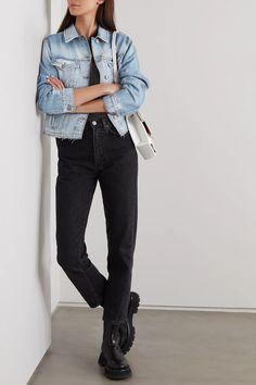 Light denim Tour distressed denim jacket | Ksubi | NET-A-PORTER Light Denim, Jacket Style, Who What Wear, Fashion Advice, Distressed Denim, Blue Denim, Menswear, Jeans, Casual