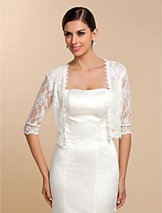 Half Sleeve Lace Casual/Evening Wraps/Jacket – USD $ 13.99