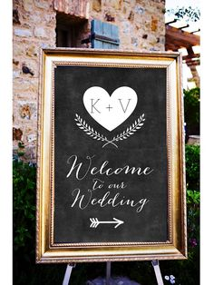 Chalkboard Welcome to our Wedding Personalized Sign by LCoOnEtsy