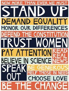 nice Important daily reminders. by Jennifer Judd-McGee 2017 manifesto archival print by swallowfield on Etsy Protest Art, Protest Signs, Protest Posters, Trump Protest, In This World, Revolution, Choose Love, Motivation, Stand Up