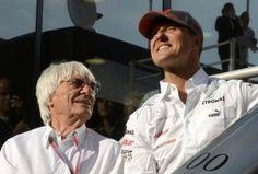 Michael Schumacher e Bernie Ecclestone.