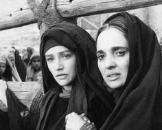"""Jesus of Nazareth"" (1977) Franco Zeffirelli; Olivia Hussey (Mary) and Maria Carta (Martha)"