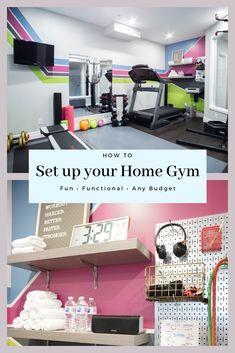 Home Gym Basement, Home Gym Garage, Diy Home Gym, Gym Room At Home, Home Gym Decor, Basement Workout Room, Workout Room Home, Workout Rooms, Workout Room Decor