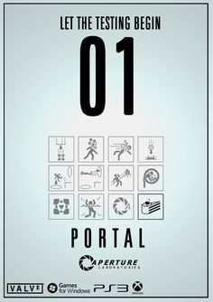 Portal Video Game Poster by TinyButDeadly