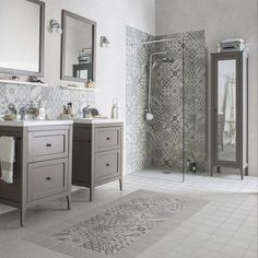 15 Inspiring Bathroom Design Ideas with IKEA www.futuristarchi… 15 Inspiring Bathroom Design Ideas with IKEA www. Home, Bathroom Makeover, Shower Room, Modern Bathroom, Ikea Bathroom, Bathrooms Remodel, Bathroom Design, Bathroom Decor, Tile Bathroom
