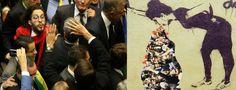 Bolsonaro diz que Eduardo Cunha entra para a História; saúda torturador Ustra e leva cusparada de Jean Wyllys
