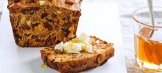 This high-fibre, high-protein, low-fat Fruit and nut loaf is great for a healthy dessert or afternoon snack. A great treat for entertaining.