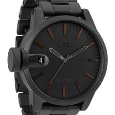 I've wanted this watch since I first viewed it at the mall, it's soooo bad ass plus the knob is on the left side and since I wear my watches on my left wrist it won't dig into my hand when I bend it. It's really quite an annoying thing ;-( Added to wish list  http://ca.nixon.com/mens/watches/the-chronicle-ss-a198.html?sku=A1981061-00
