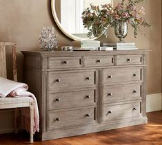 Shop Pottery Barn for bedroom sets featuring timeless style and beauty. Find bedroom furniture crafted with exceptional workmanship in quality materials and finishes. Grey Bedroom Furniture, Bedroom Dressers, Pallet Furniture, Rustic Furniture, Cool Furniture, Living Room Furniture, Furniture Sets, Furniture Dolly, Furniture Movers
