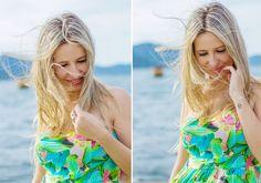 Girl, Beach, Wind, Floripa